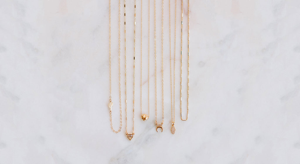 Katie Dean Jewelry, dainty necklaces
