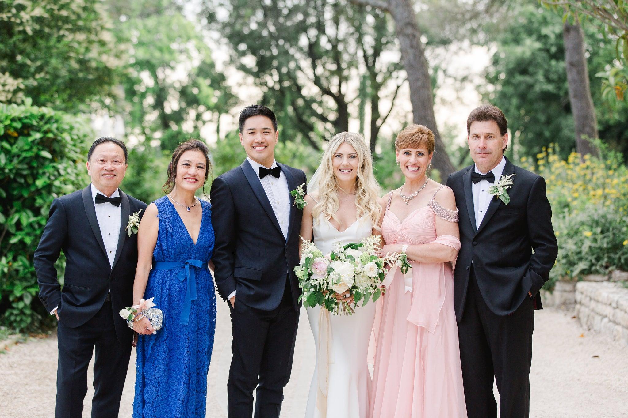 Katie Dean & Jon Tam romantic chateau wedding in provence, family portrait