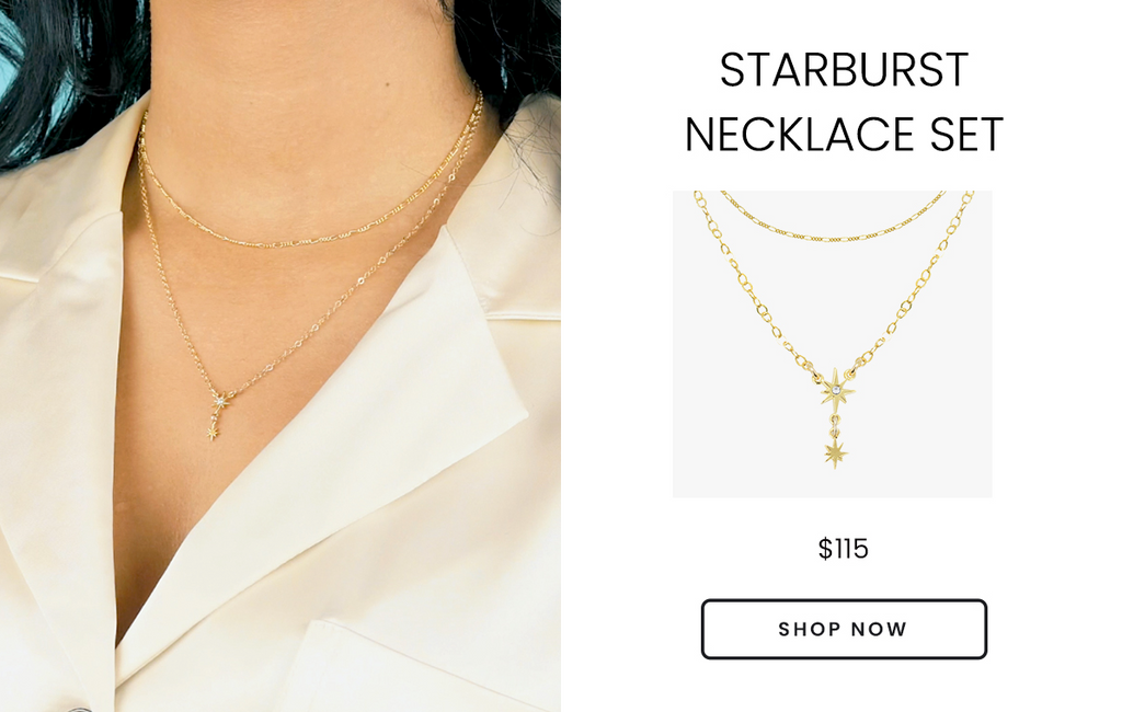 Little Dipper Star Necklace Set, handmade by Katie Dean Jewelry in the USA, Valentine's Day Gift