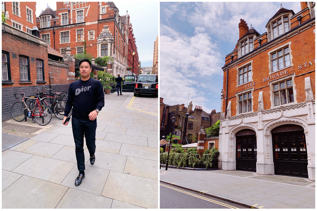 Chiltern Firehouse in Marylebone, London, Jon Tam in Dior