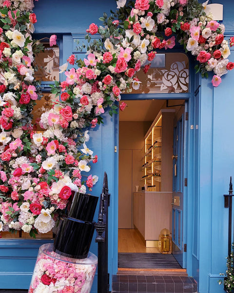 Floral Installment in London, Katie Dean Jewelry Travel Guide to London