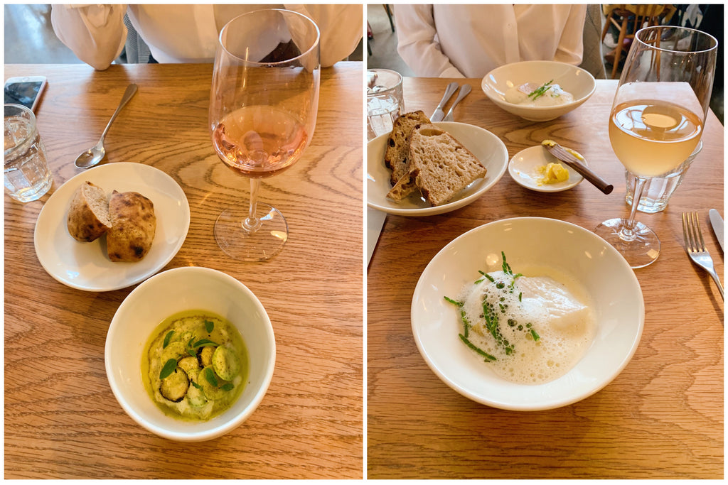 London Food Guide, pictures of our meal at Lyle's in Shoreditch