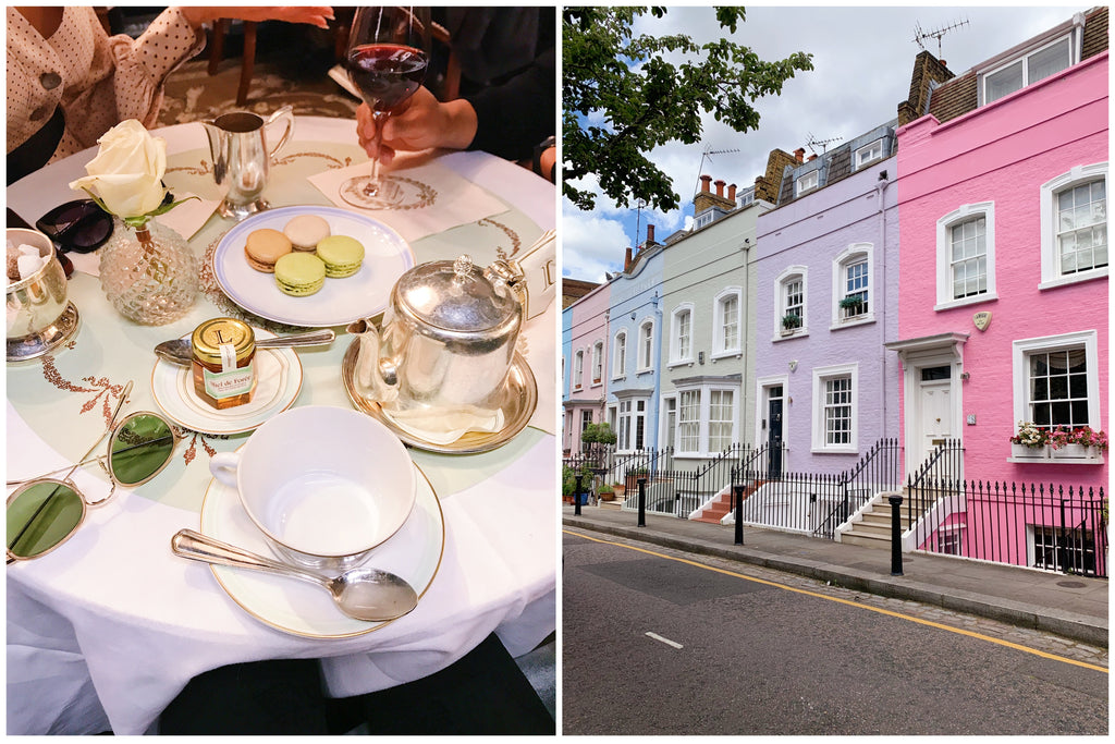 London Travel Guide, Laduree Tea Time and Colorful Homes