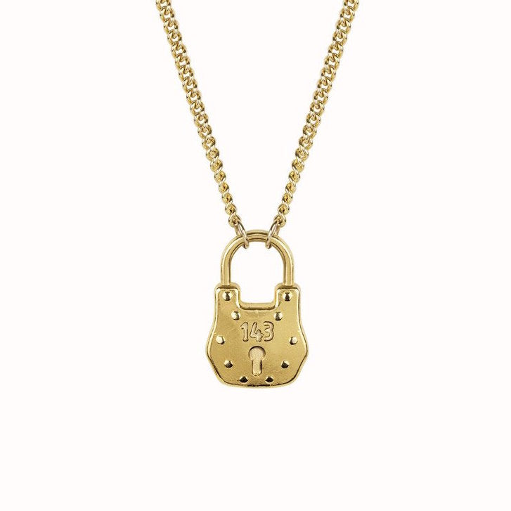 Love Lock Necklace, Katie Dean Jewelry, 143 padlock jewelry
