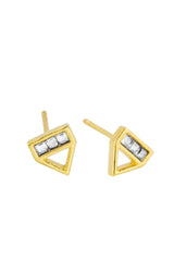 Love Triangle dainty stud earring, Katie Dean Jewelry