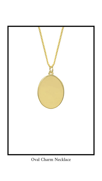 Oval Charm Necklace Katie Dean Jewelry