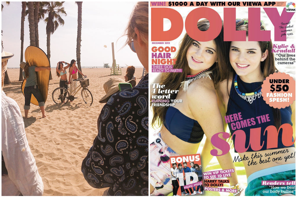 Dolly Magazine Photo Shoot on the beach
