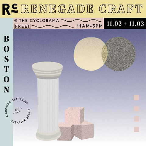 Renegade Craft Boston Flyer, Katie Dean Jewelry event