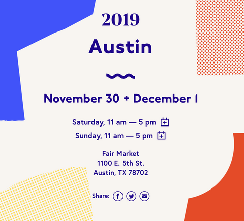 Renegade Craft Holiday Show, Austin Texas, 2019, Katie Dean Jewelry