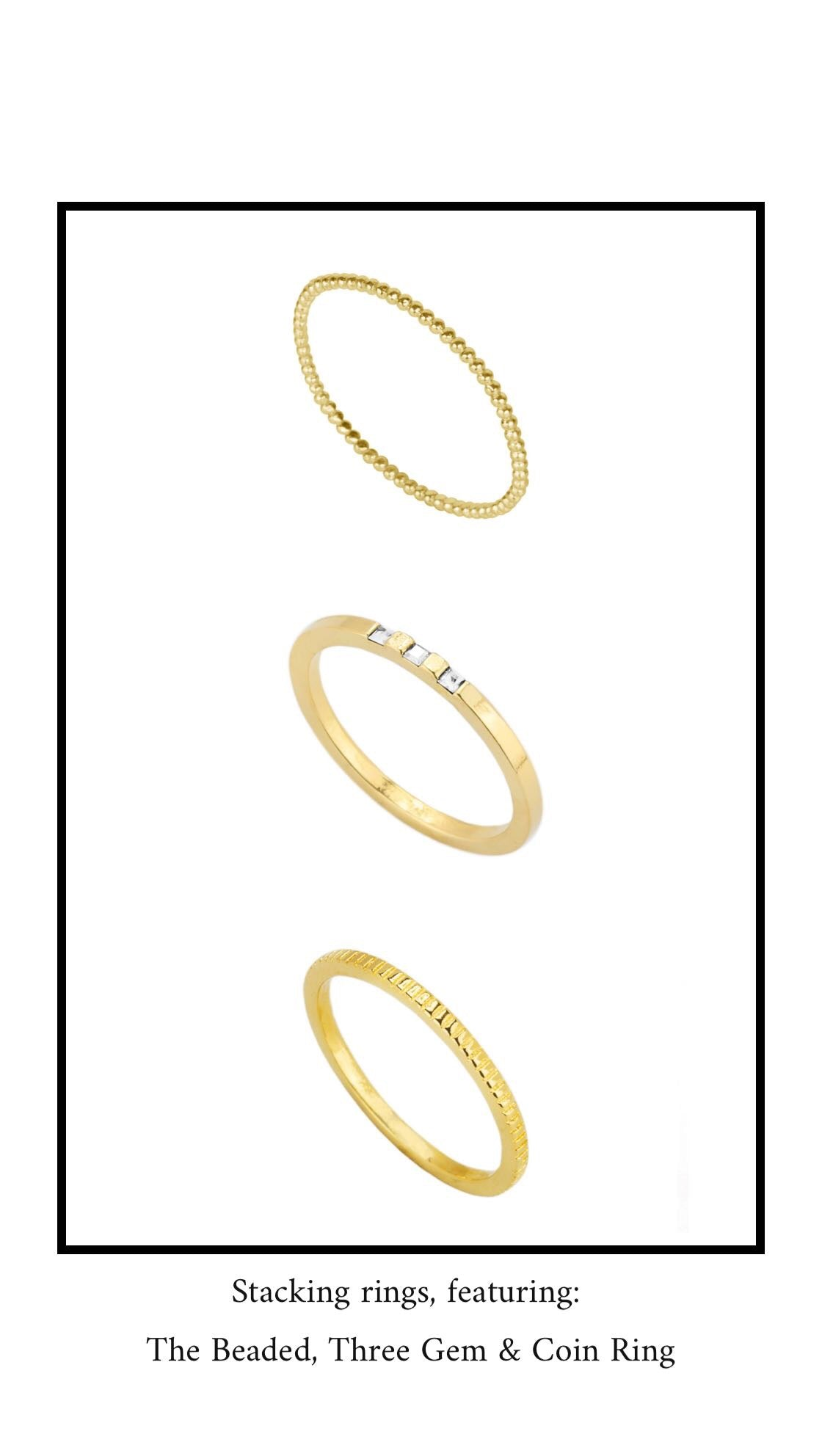 Dainty stacking rings, Katie dean jewelry