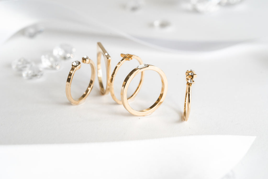 Stacking rings, Katie Dean Jewelry, gift guide baguette ring