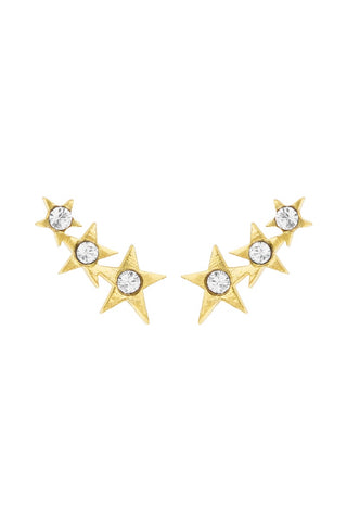 Starburst Ear Crawlers, Katie Dean Jewelry, dainty earrings