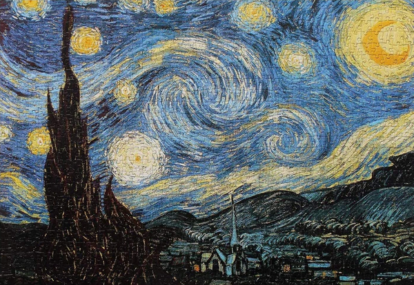 Starry Night Puzzle sold on Amazon