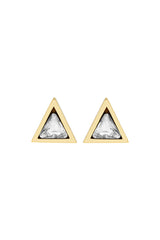 triangle stud earrings, katie dean jewelry
