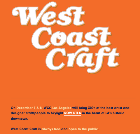west coast craft holiday 2019 flyer, los angeles show, Katie Dean Jewelry