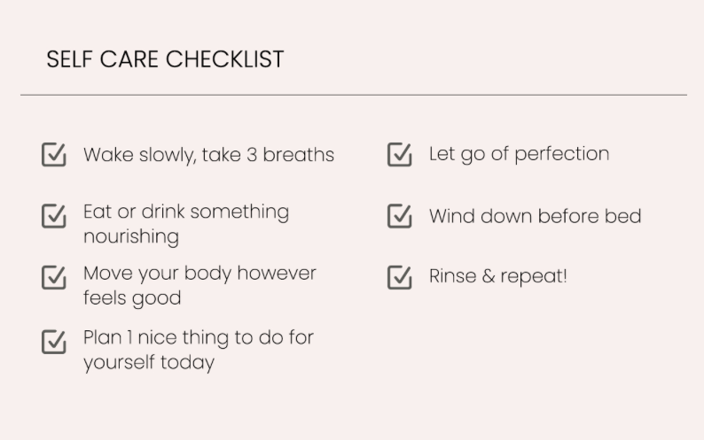 Your self care checklist with a golden glow, Katie Dean Jewelry