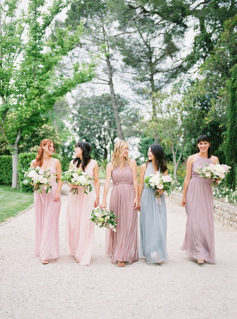 Katie Dean + Jon Tam Destination wedding, Provence, France Wedding, Bridesmaids