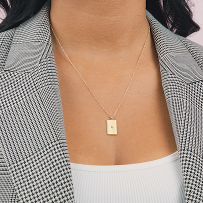 Rectangle Necklace, Katie Dean Jewelry