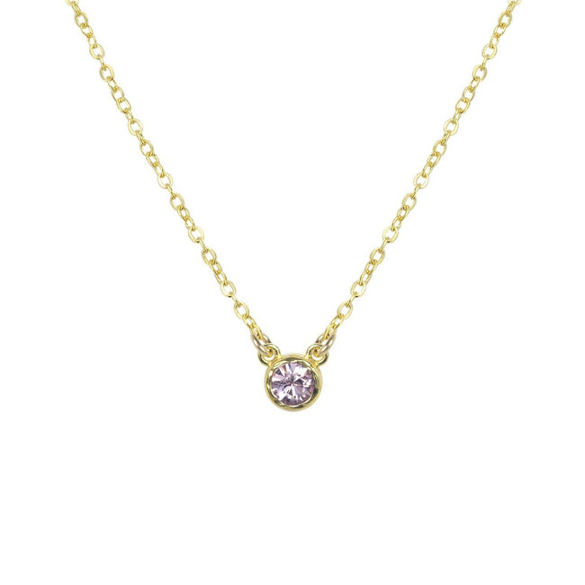 June Birthstone Necklace by Katie Dean Jewelry, Swarovski Crystal in light amethyst lavender purple
