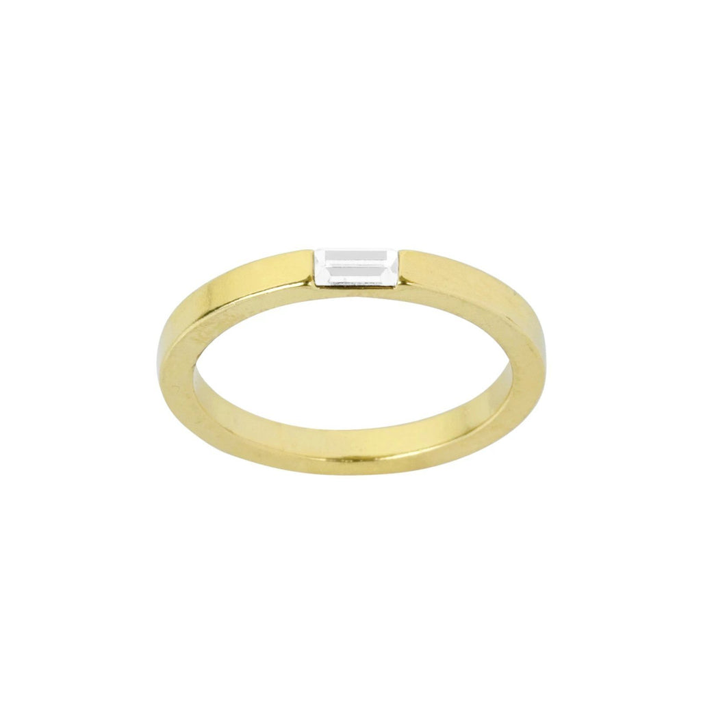 The Baguette Ring, a beautiful classic piece to add to your everyday rings. Handmade in California by Katie Dean Jewelry.