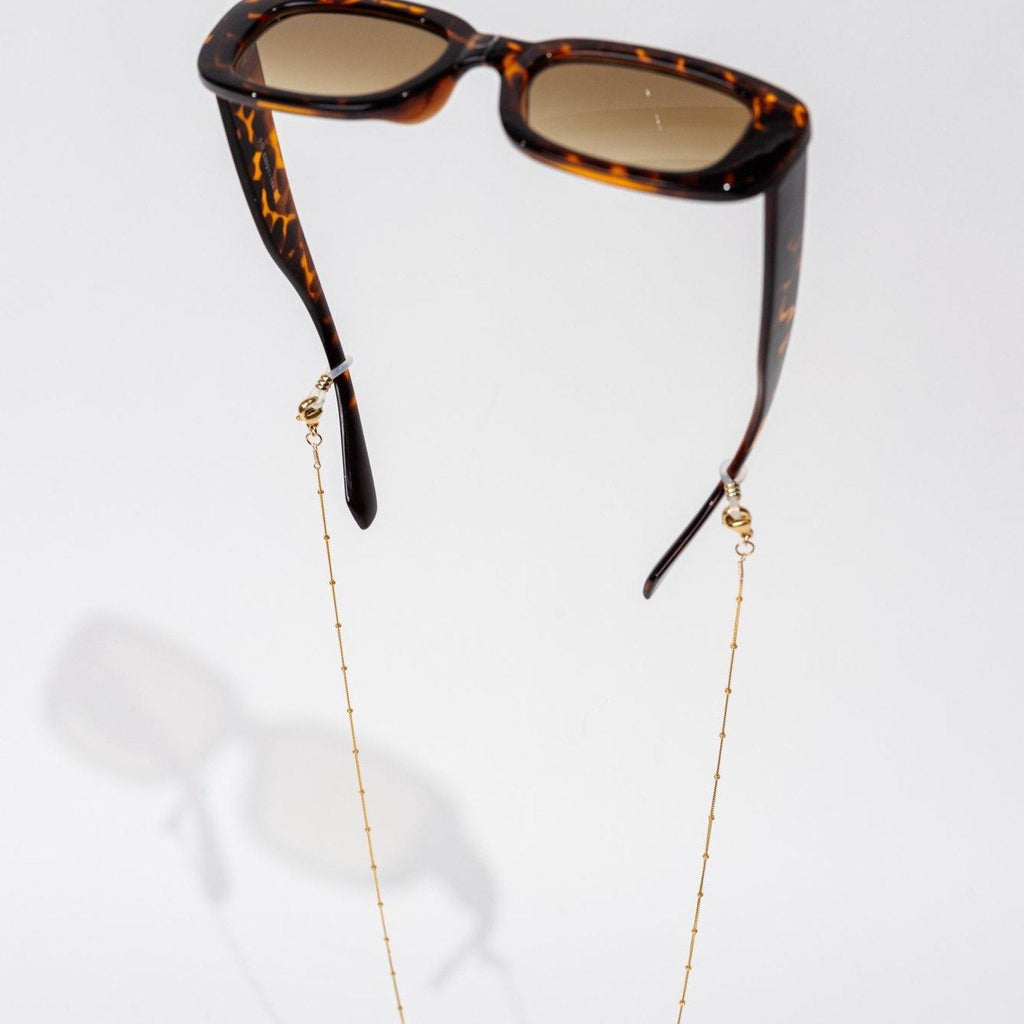 Gold Beaded Eyewear Chain by Katie Dean Jewelry
