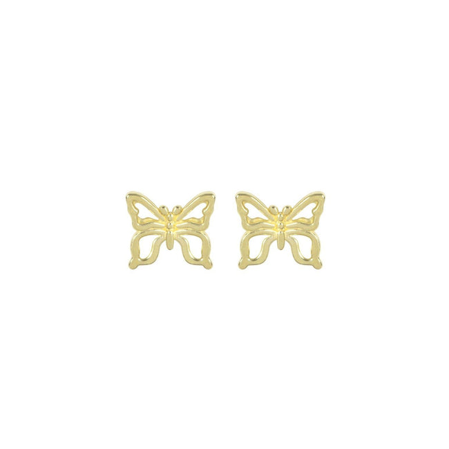 Butterfly Stud Earrings handmade in California by Katie Dean Jewelry. Butterflies are a symbol of Spring and new beginnings with the change of seasons. Nickel free and hypoallergenic.