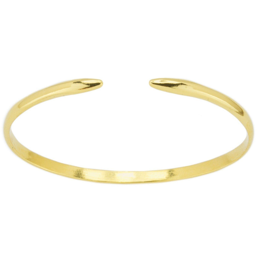 Gold Claw Cuff shown against a white background, handmade in California by Katie Dean Jewelry.