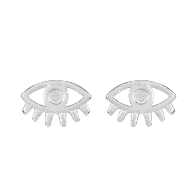 Good vibes. Lucky charm. Protector of evil spirits. No matter which way you put it, the Evil Eye Stud Earrings are a good omen and carries only well wishes along with it.  Made in California by Katie Dean Jewelry. Nickel free and hypoallergenic.