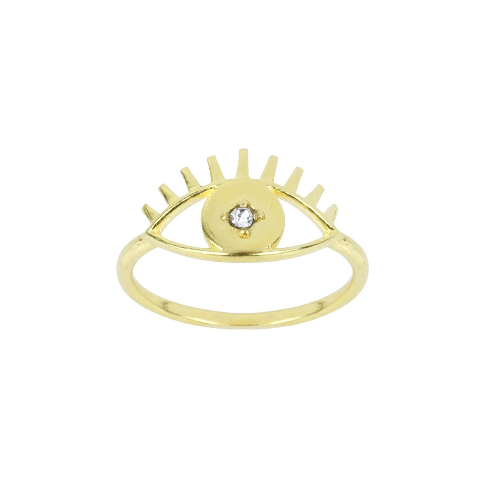 Keeping all bad juju away from you! Let this pretty Evil Eye Ring protect you from bad vibes and spread the love to one and all.  Handmade in California by Katie Dean Jewelry.