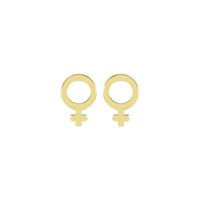 Wear it loud and proud! The Female Symbol Studs were inspired by all the support and help that Katie has received from the leading ladies in her life. When you wear these studs, we hope you feel empowered and ready to be the lady boss that you are. Handmade in California by Katie Dean Jewelry.