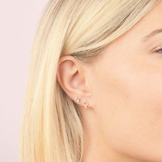 Female strong. Need we say more? The Feminist Earring Set is handmade in California by Katie Dean Jewelry. Nickel free and hypoallergenic.