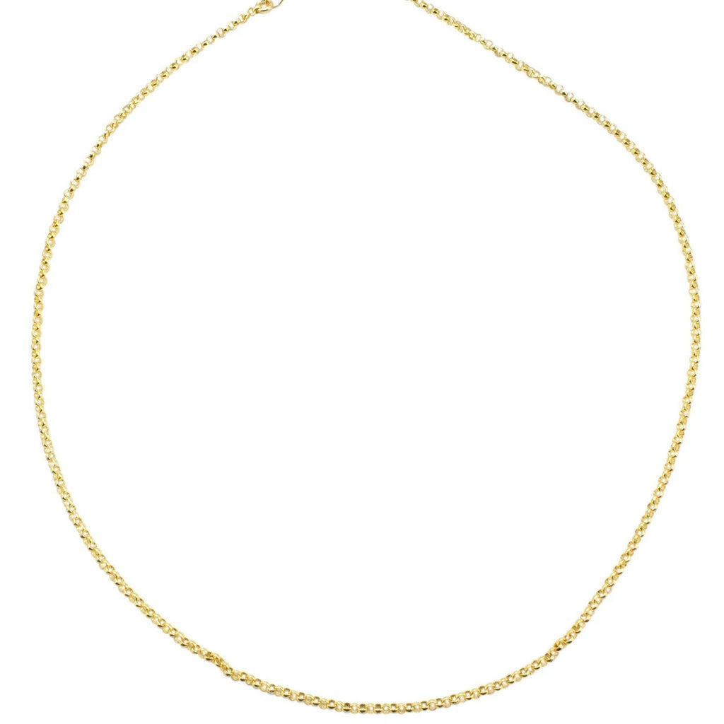 The Gold Rolo Choker Necklace, to the point, but anything except boring. Truly for every type of woman and perfectly pairs with any jewelry! A basic everyone should own.  Handmade in California by Katie Dean Jewelry.
