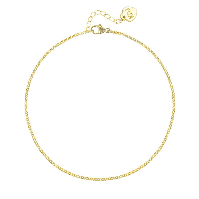 Gold Rolo Anklet, Katie Dean Jewelry