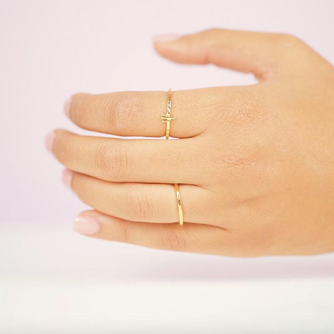 The Cactus Ring, giving you that Southwestern charm for your everyday look. Handmade in California by Katie Dean Jewelry.