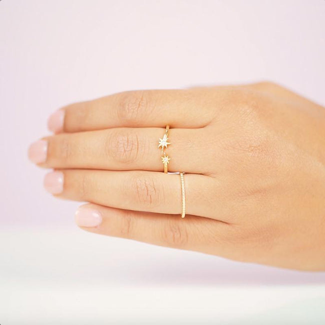 Star light star bright, first ring I see tonight!  Your wish is our command with this sparkly adjustable Star Ring!  Handmade in California by Katie Dean Jewelry.