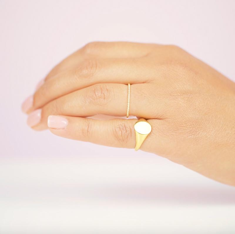 As classic as it gets, the Oval Signet Ring is here!  Handmade in California by Katie Dean Jewelry.