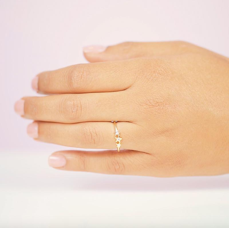We're always reaching for the stars at KDJ. We hope the Starburst Ring is your lucky charm that makes your dreams come true!  Handmade in California by Katie Dean Jewelry.