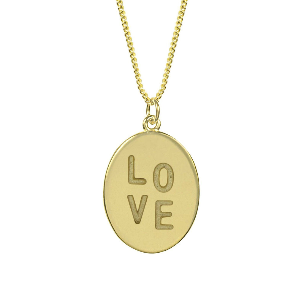 Love Charm Necklace handmade in California by Katie Dean Jewelry.
