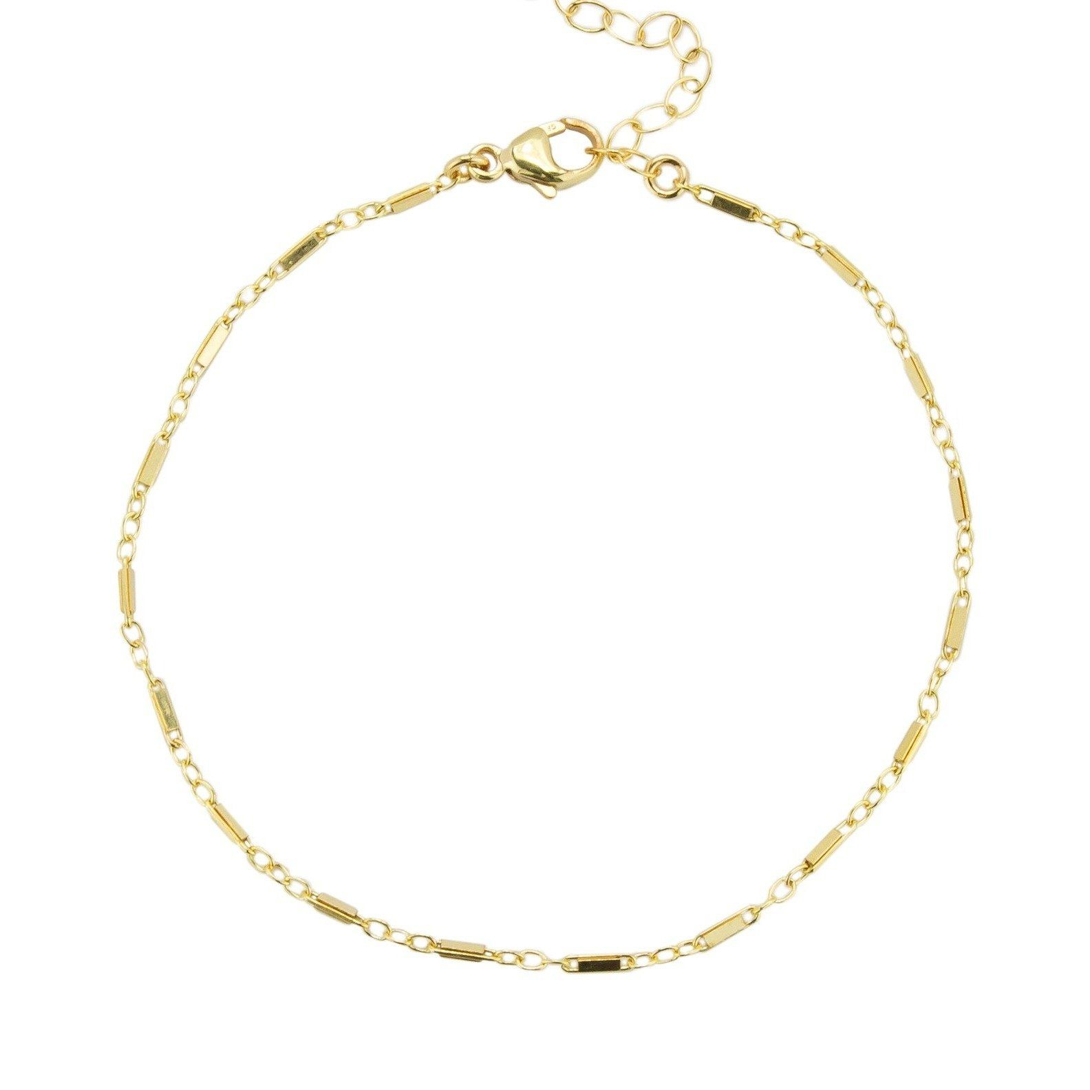 Dainty, handmade Linked Anklet by Katie Dean Jewelry. Perfect for Summer!