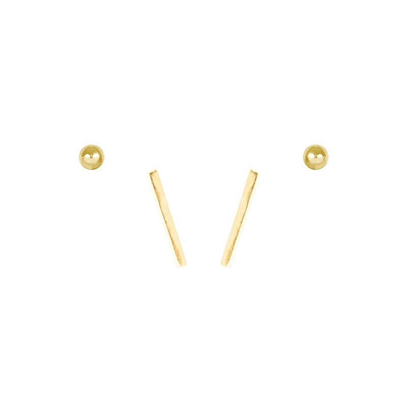 For those days when you want to keep it simple. Hello, Minimalist Earring Set.  Handmade in California. Nickel free and hypoallergenic.