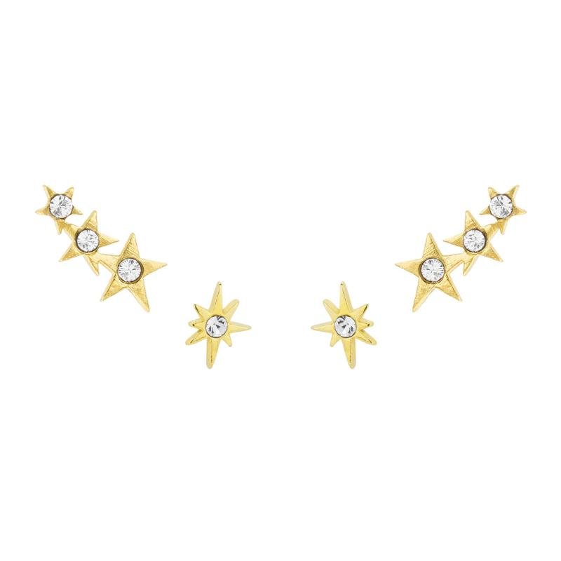 Did someone order stars? Oh right, we did! The Starburst Earring Set is handmade in California by Katie Dean Jewelry. Nickel free and hypoallergenic.
