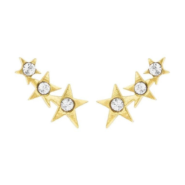 We're always reaching for the stars at KDJ. We hope the Starburst Ear Crawlers are your lucky charm that make your dreams come true!  Handmade in California by Katie Dean Jewelry. Nickel free and hypoallergenic.