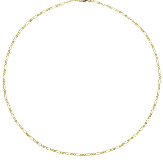 The Figaro Chain Choker Necklace. Easy, effortless, refined. We love our dainty chain necklaces. They can be worn on their own for a minimal look or layered with your other pieces for more of a statement.   Handmade in California by Katie Dean Jewelry.