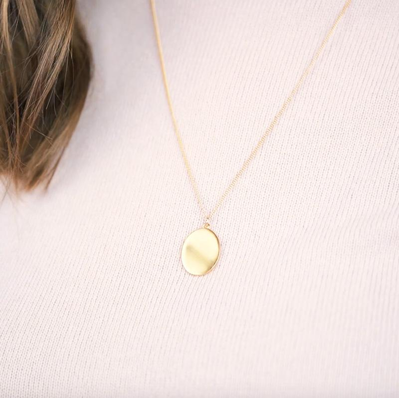 The Oval Necklace. Pair up this Vintage Inspired beauty with your everyday necklaces to create a beautiful, layered up look. Trust us, it's going to be your go-to necklace!  Handmade in California by Katie Dean Jewelry.