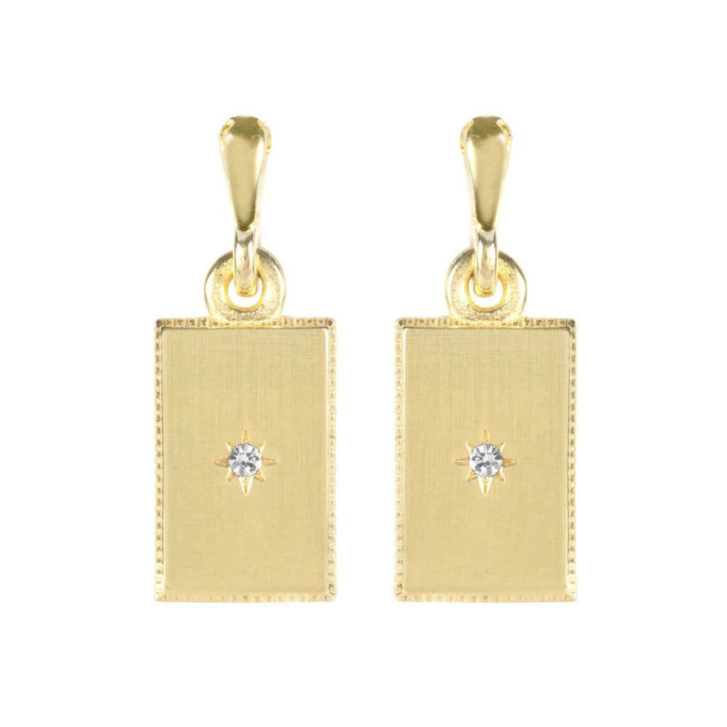 So classic, so fine, so you. Add these refined Rectangle Earrings to your jewelry look.  Handmade in California by Katie Dean Jewelry. Nickel Free and hypoallergenic.