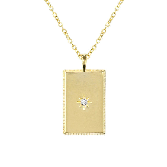 So classic, so fine, so you. The Rectangle Necklace is another dainty, delicate piece for you to layer with your other pieces. Handmade in California by Katie Dean Jewelry.