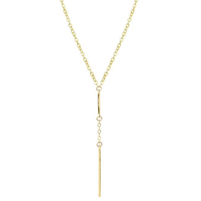 Delicate, dainty and clean--the Two Bar Necklace is wonderful for every occasion. Handmade in California by Katie Dean Jewelry..