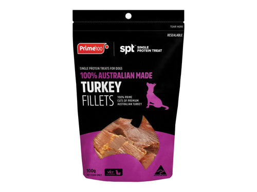 Turkey Fillet Treats 100gm - Prime100