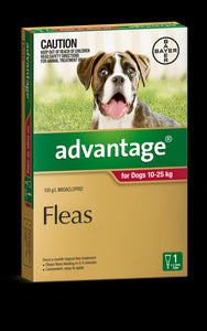 Advantage Dog 10-25kg Large Red 1's