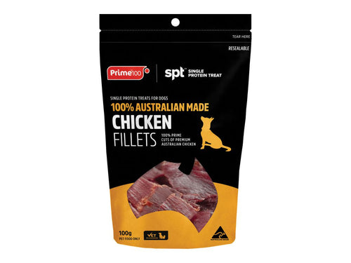 Chicken Fillet Treats 100gm - Prime100
